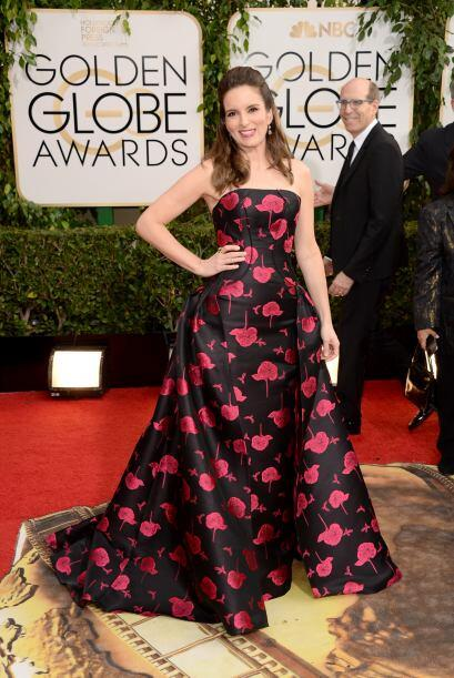 El vestido de Tina Fey -Carolina Herrera- no fue de nuestros favoritos,...