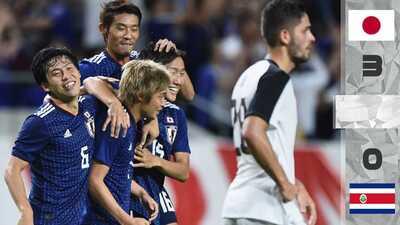 Un renovado Japón goleó a Costa Rica en duelo amistoso