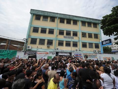 En la escuela Tasso de Silveira, en Rio de Janeiro, se realizó un...