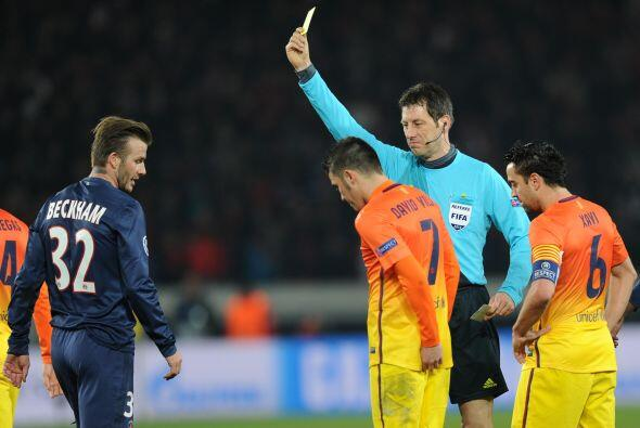 beckahm también se llevó una tarjeta amarilla.