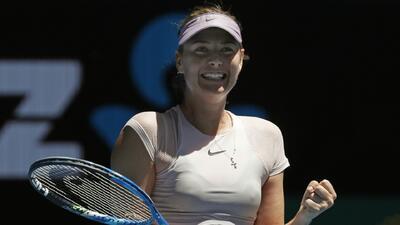 María Sharapovca avanzó a la segunda ronda del Abierto de...