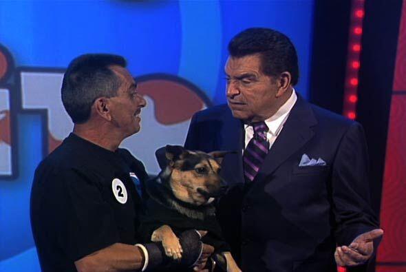 """En el concurso """"Igualito a mi Perrito"""" de Sábado Gigant..."""