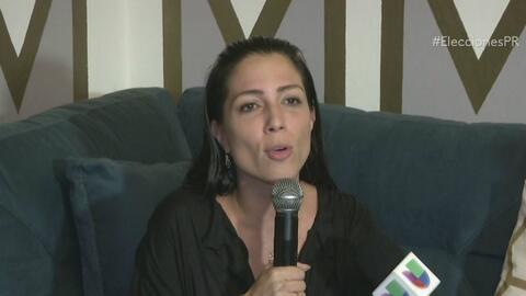 Alexandra Lúgaro reacciona tras los resultados electorales