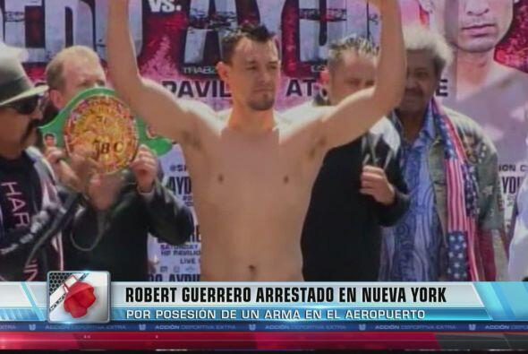 """El boxeador mexicano Robert """"El Fantasma"""" Guerrero fue arrestado en un a..."""