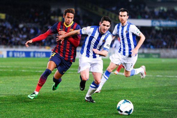 La Real Sociedad contuvo bien la sociedad Neymar Messi.