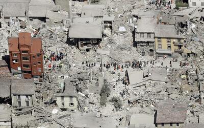Foto aérea de cómo quedó la población de Ama...