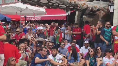 Españoles y portugueses de Nueva Jersey se contagian de la 'fiebre' del fútbol