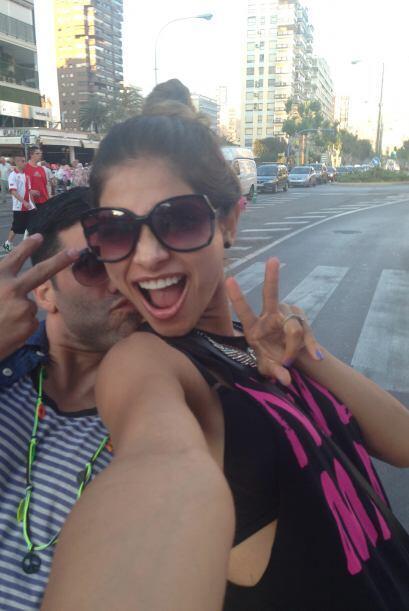En la ciudad, Alejandra también visitó varios lugares para comprar los m...