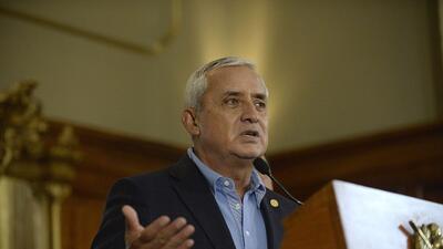 El expresidente guatemalteco Otto Pérez Molina habla en una conferencia...
