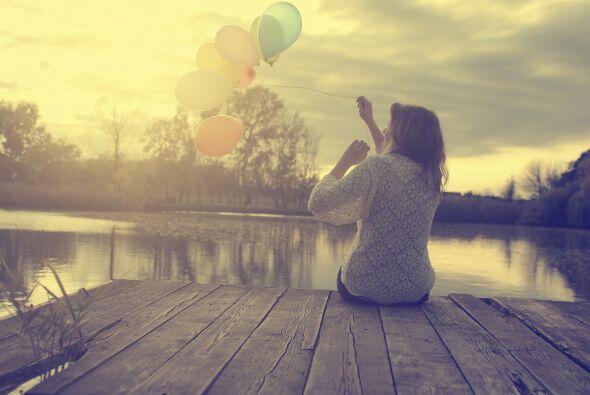 Debes soltar el pasado y abrirte a todas las cosas nuevas que te rodean.