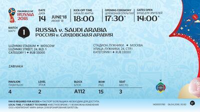 En fotos: FIFA presentó boletos para Rusia 2018 y aquí recordamos otros diseños