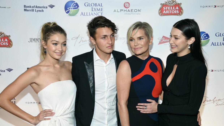 Gigi Hadid con su familia