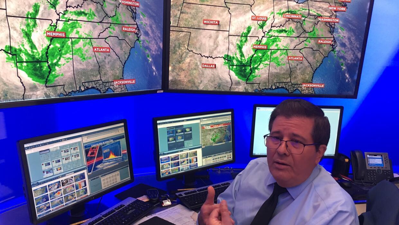Univision's Channel 23 weatherman in Miami, Eduardo Rodríguez.