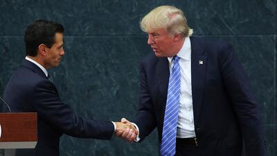 Trump y Peña Nieto acuerdan abstenerse de hablar públicamente de la disp...