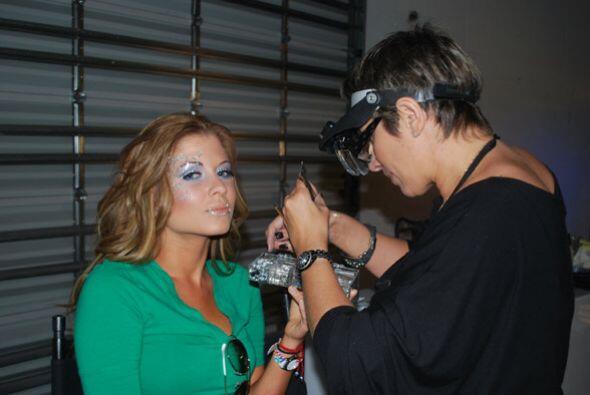 El maquillaje de las bellas estuvo a cargo de la estilista Angela Fisher.