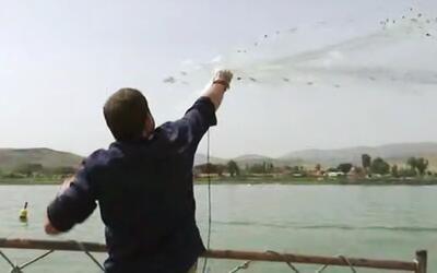 Alan pescó en el mar de Galilea como algún día lo hizo Jesús
