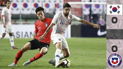 Con Son y sin Alexis, Corea del Sur y Chile jugaron un amistoso intenso y en el que solo faltó el gol