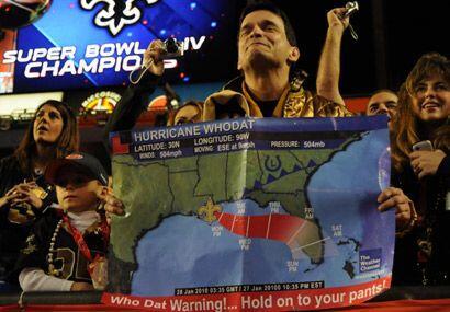"""Y es que el huracán """"Who Dat"""" arrasó a los Indianápolis Colts en Miami."""