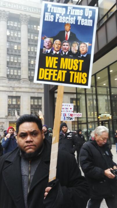Marcha protesta Donald Trump toma de posesión Chicago