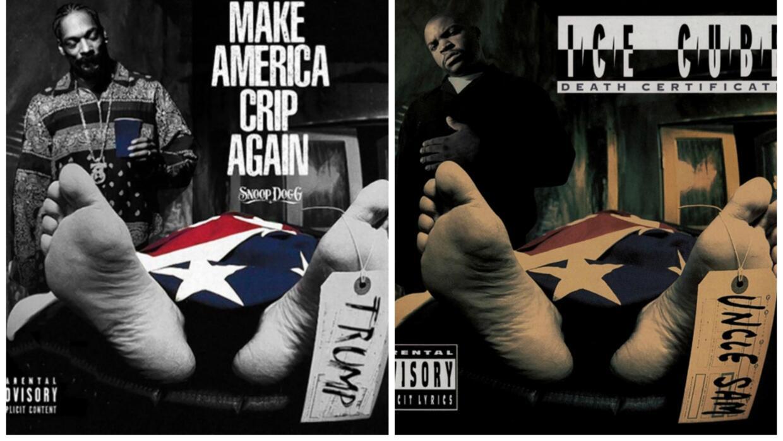 Snoop Dogg vuelve a 'asesinar' a Trump: en la portada de su nuevo disco...