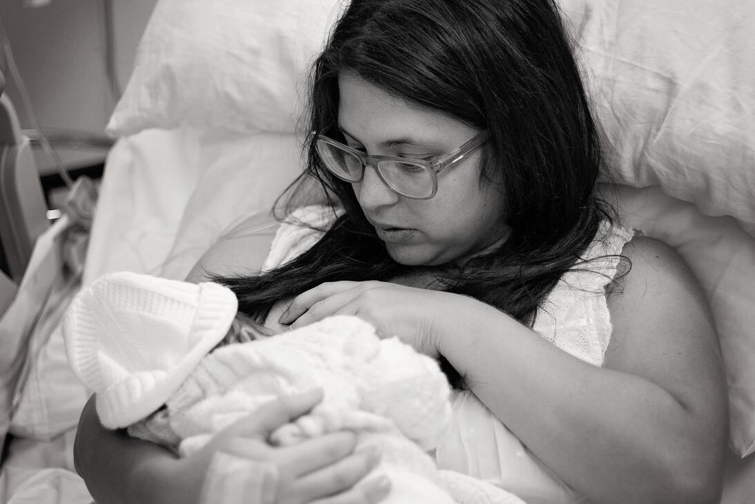 Hace diez meses nació Joaquín, el segundo hijo de Carla Candia Casado, a...