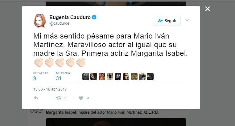 Los famosos despiden a Margarita Isabel en redes sociales