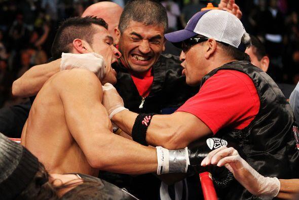 Martínez, que hacía su primera defensa del título que le ganó al estadou...