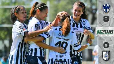 Rayadas propinan la peor goleada en la historia de Querétaro en la Liga MX Femenil