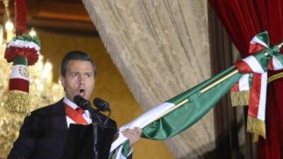 Enrique Peña Nieto en la ceremonia del grito de la Independencia en 2013.