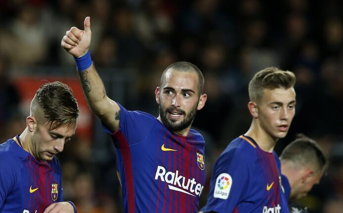 Entre los que menos ha pesado en el Barça está Aleix Vidal, con 346 minu...