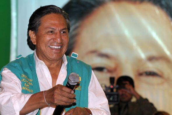 Toledo ganó los comicios presidenciales de 2001 al derrotar a Alan García.