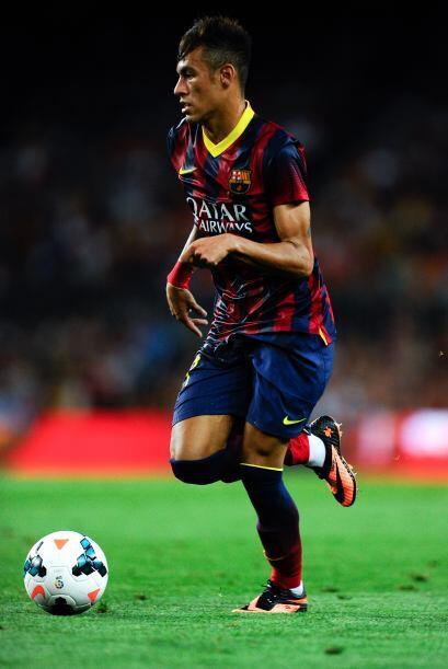 Neymar dejó pinceladas de su clase en los 45 minutos de la segunda mitad...