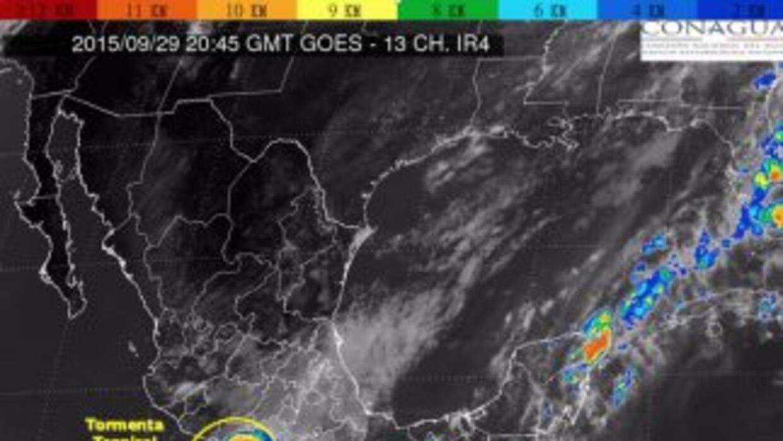 Tormenta tropical Marty. (Imagen Conagua)
