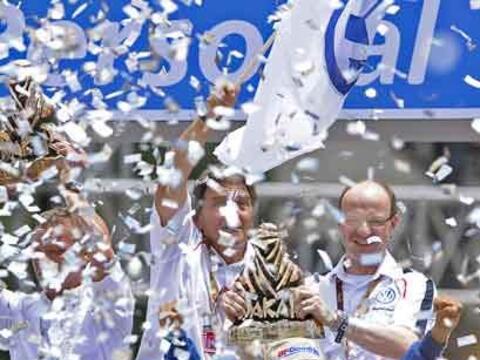 La fiesta final del Rally Dakar 2011 fue una celebración por el d...