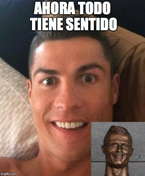 El nuevo busto de Cristiano no se salvó de los divertidos memes 27e8z1.jpg