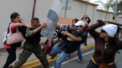 Los niveles de violencia que se registran en Honduras provocó la salida...