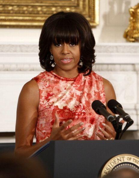 Michelle Obama también logró un exitoso cambio de 'look' este año 2013 c...