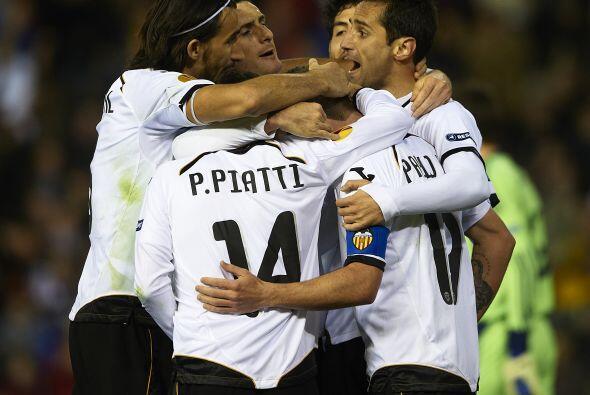 Otro de los equipos 'rebotados' de la 'Champions', el Valencia, tercero...