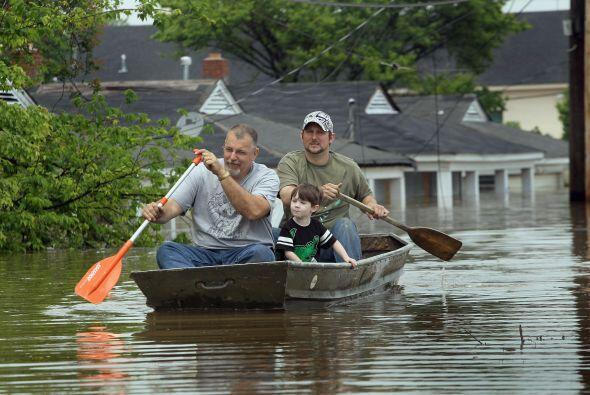 Varios de los vecinos cambiaron el auto por el bote como medio de transp...
