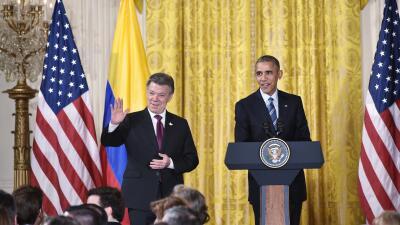 Obama y Santos