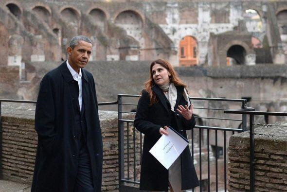 Durante su visita fue acompañado por una arqueóloga de la Superintendenc...