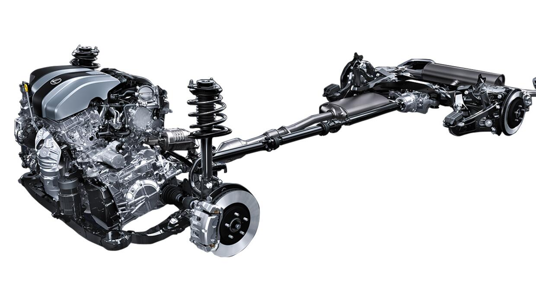 Chasis y tren motriz de la Lexus RX 350 2016