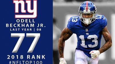 #77 Odell Beckham Jr. (WR, Giants) | Top 100 Jugadores NFL 2018