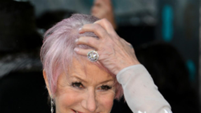 Helen Mirren se adelantó a la tendencia del pelo de colores
