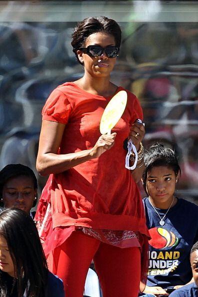 Michelle Obama salió triste por la derrota de su compatriota.