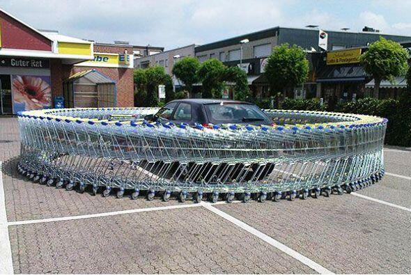 ¿Cuántos carritos de supermercado habrán necesitado?