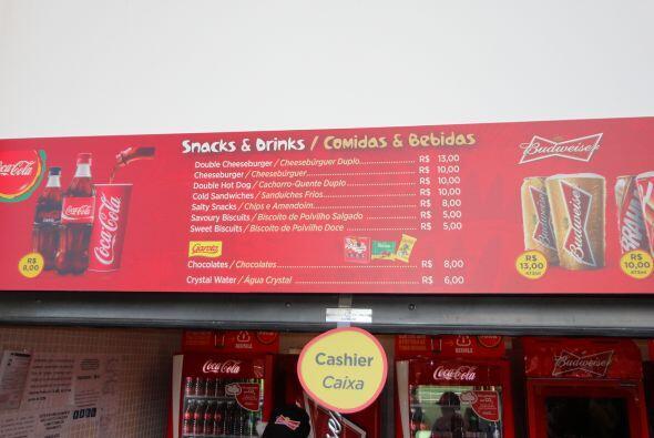 Aquí puedes ver las opciones de comidas y bebidas que ofrecen durante el...