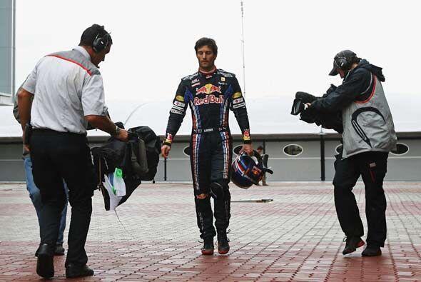 Webber salió con cara de pocos amigos, tras saber que estaba a punto de...