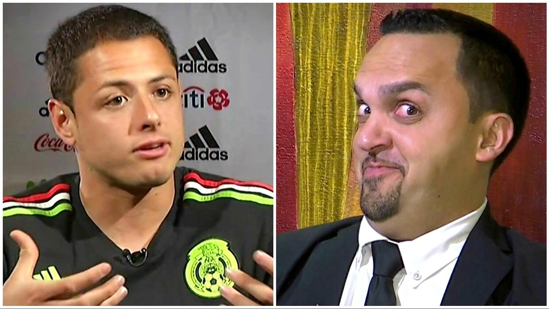 """Elvis """"entrevistó"""" a 'Chicharito' Hernández y le preguntó sobre sus exno..."""