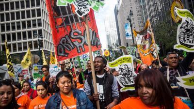 Manifestación por inversiones responsables en Nueva York.
